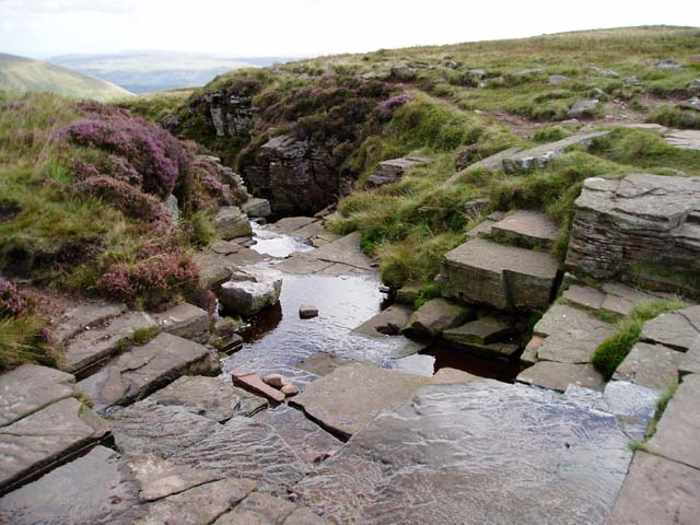 Head of waterfall crossing Graig Fan Las