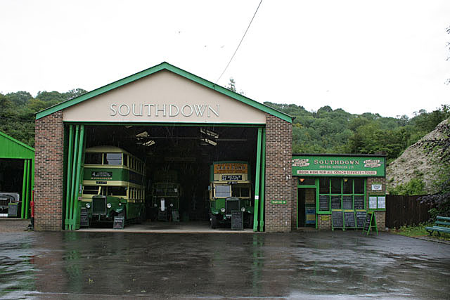 Southdown Bus Garage, Amberley working museum