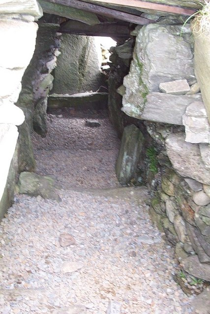 Inside view of the Chambered Cairn at Kilmartin's linear cemetery
