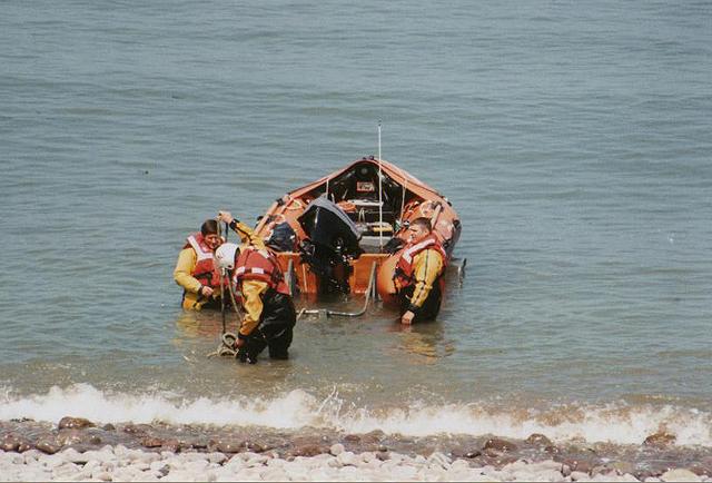 Lifeboat drill, Minehead