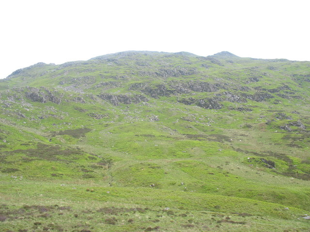 The head of Cwm-ochr on the upper slopes of Glasgwm