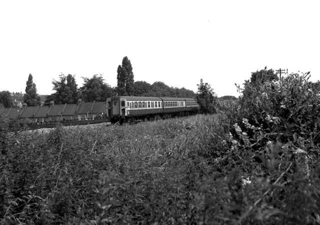 Southbound on the fast line, Coulsdon, Surrey