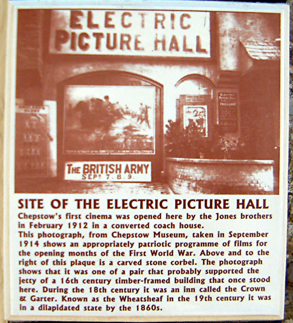 Chepstow - Electric Picture Hall history plaque