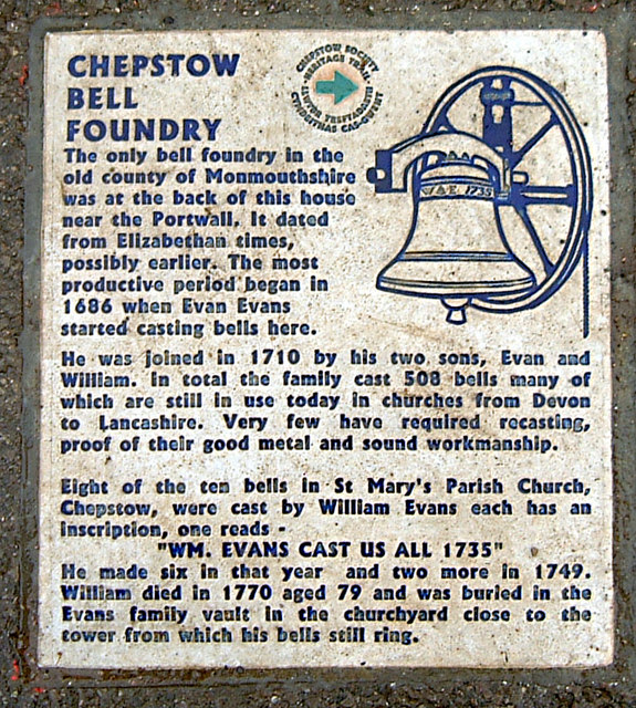 Chepstow Bell Foundry history plaque