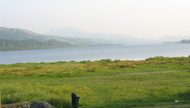 Llyn Tegid with the Arans in the background