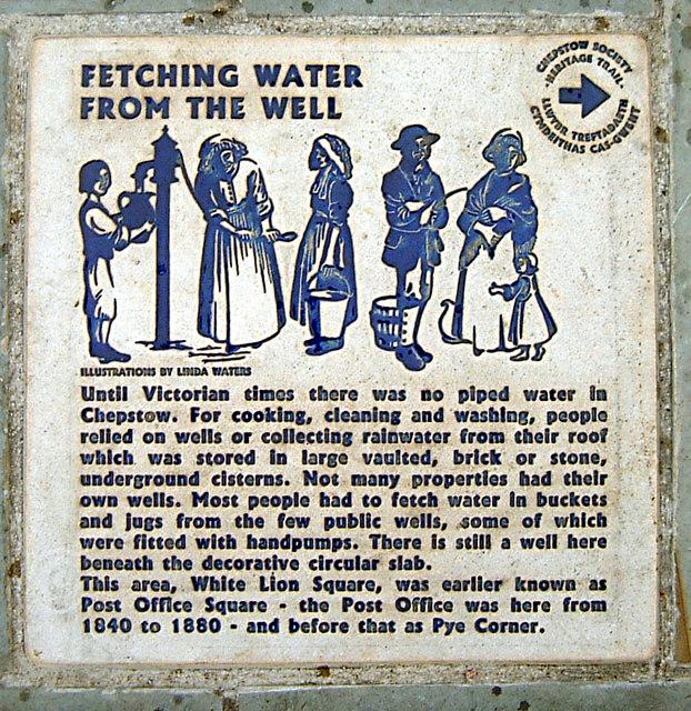 Chepstow - Pye Corner Well history plaque