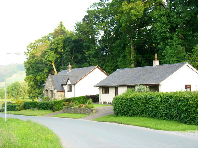 Two bungalows at the bottom of Stryd y Fron