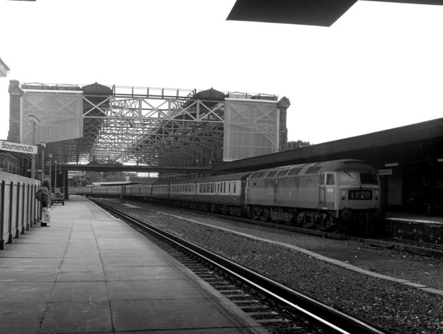 Bournemouth Central station, 1973