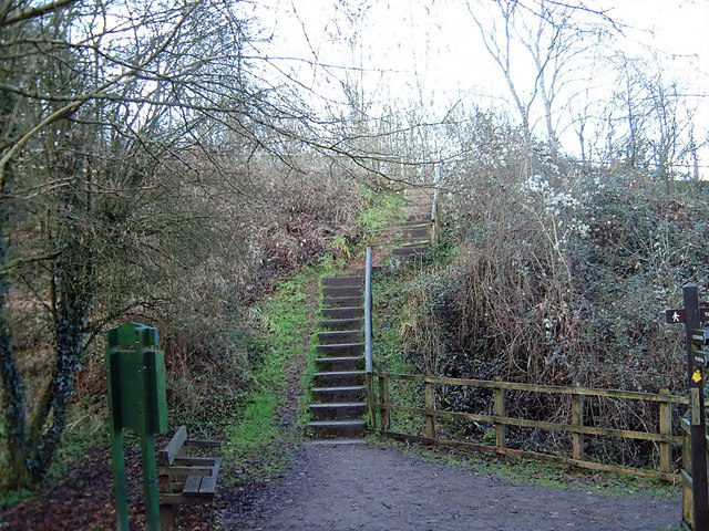 Steps on the footpath to Tintern Old Station