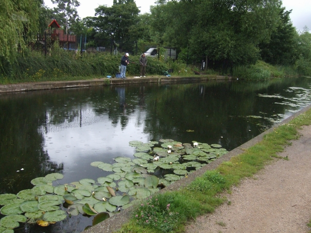 Fishing in the rain on the Curly Wyrley