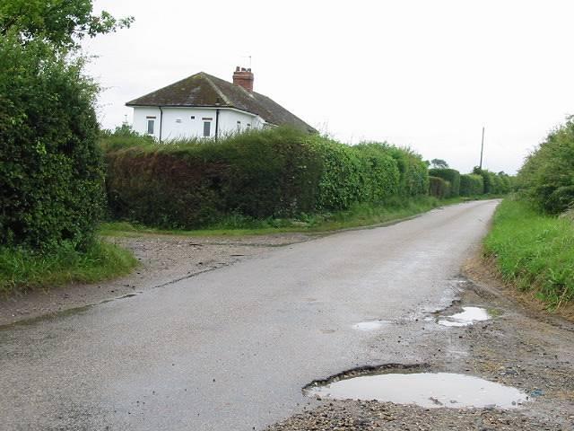 Looking SW along Brambling Road