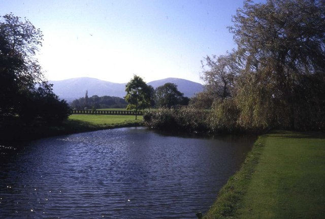 The moat at Madresfield Court