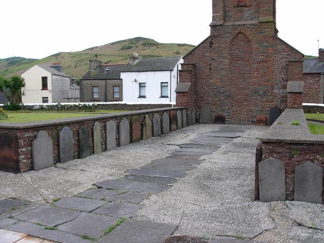 Peel , ruins of St Peter's Church