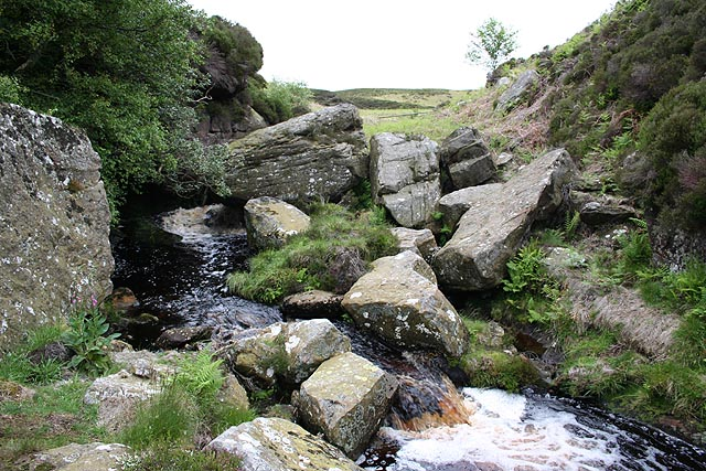 Harehope Burn at Corbie Crags