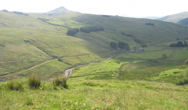 Dol-cyn-afon and the Mawddach valley from the top of the Allt-lwyd track