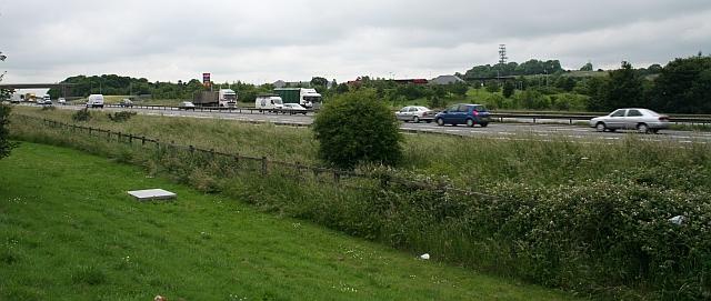 M1 Motorway at Tibshelf