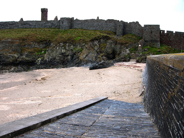 Peel , Fenella Beach and castle