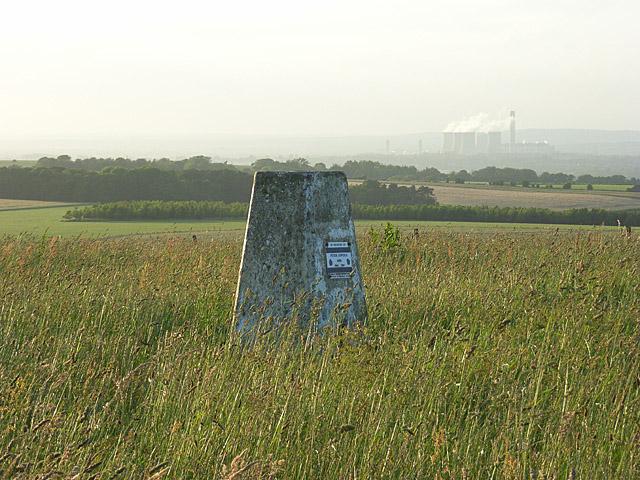 Trig point, Lowbury Hill