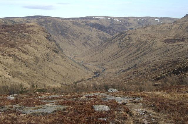 U-Shaped valley, Glen Clova