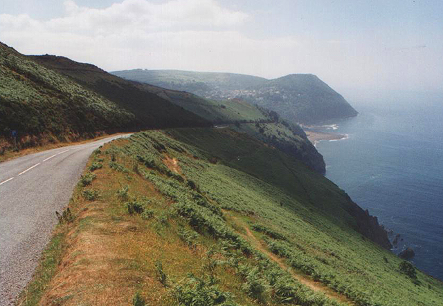 A39 descends to Lynmouth