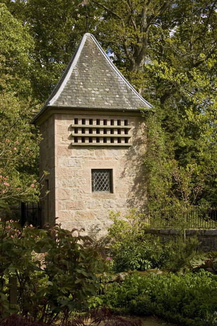 Doocot in the garden of Crathes Castle