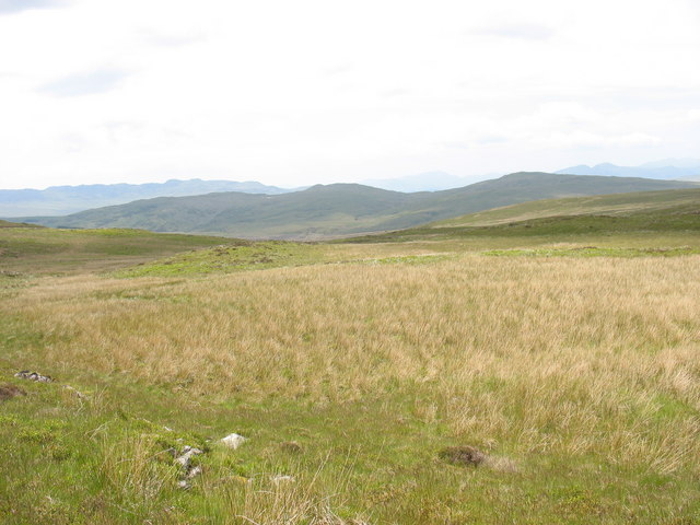 View west from the source of Nant Hir