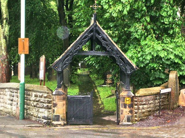 Lychgate, The Parish Church of St Thomas Musbury, Haslingden