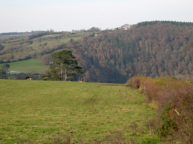 A steep valley