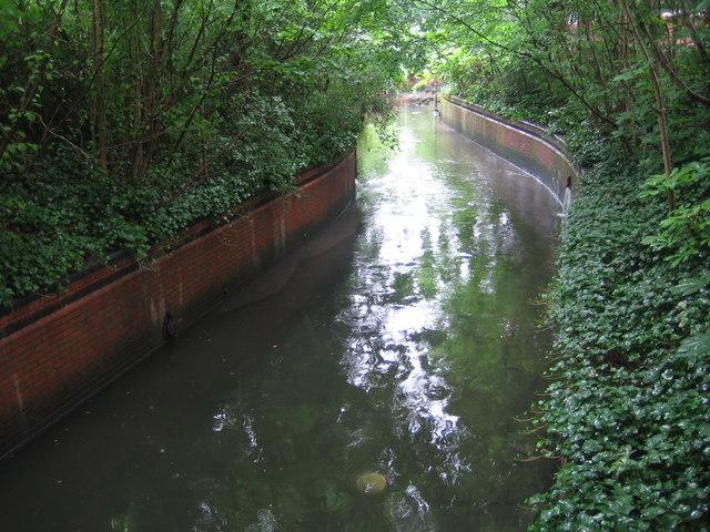 Wealdstone Brook in Kenton