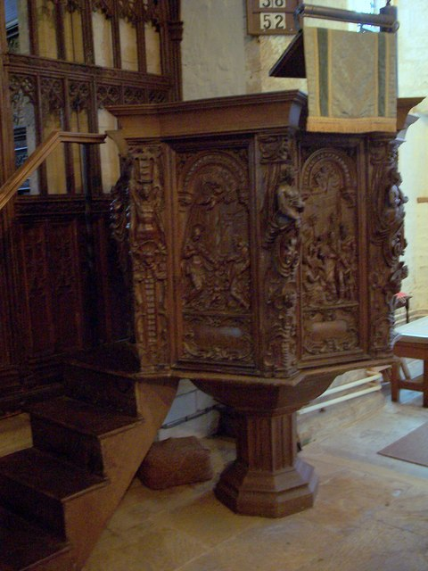 Pulpit at St Andrew's Church