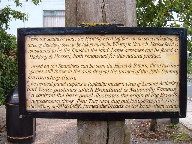 Village sign text