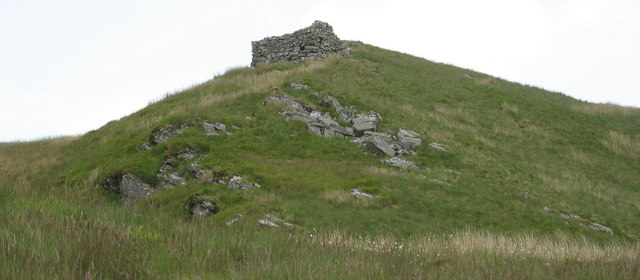 An intriguing ruin on a knoll