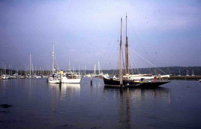 Boats at Bucklers Hard Marina