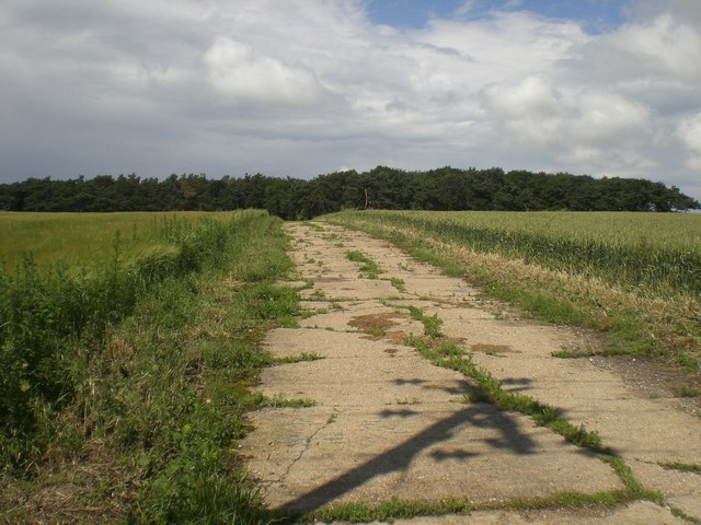 Track near former RAF North Creake
