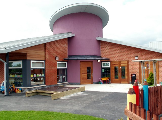 New Darton Primary School entrance.