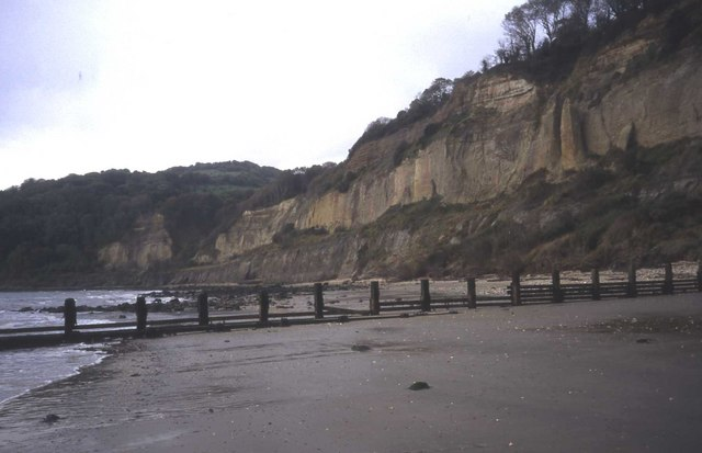 South end of Shanklin beach and Luccombe cliffs