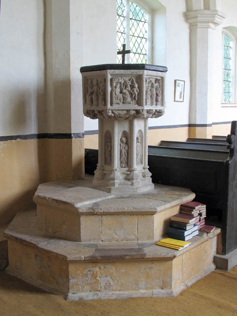 St John the Baptist, Alderford, Norfolk - Font