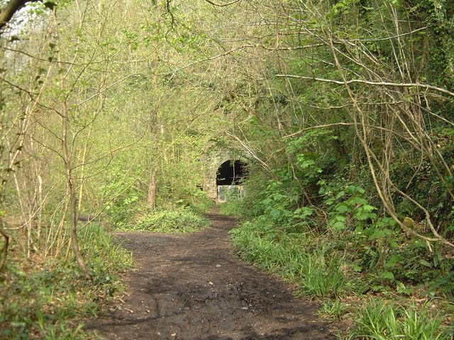 Tintern - abandoned railway tunnel entrance