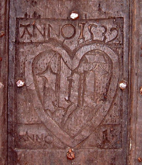 The Old Church Penallt - carved inscription