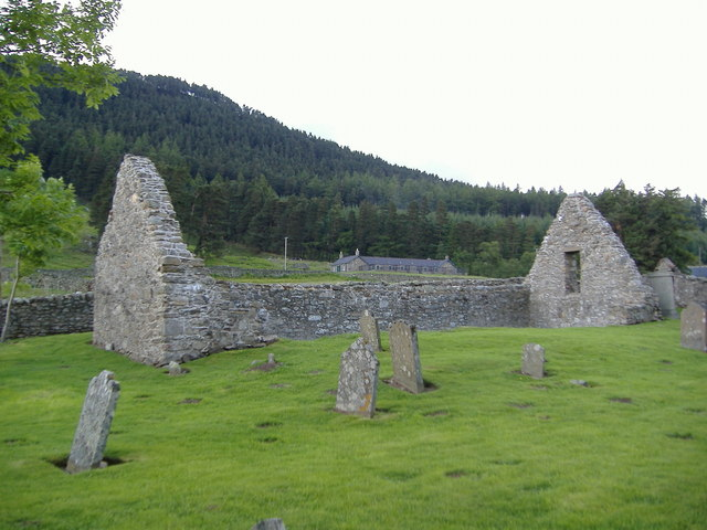 The old church at Loch Lee