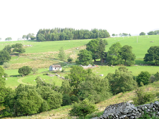 The valley of Nant Merddwr y Graig