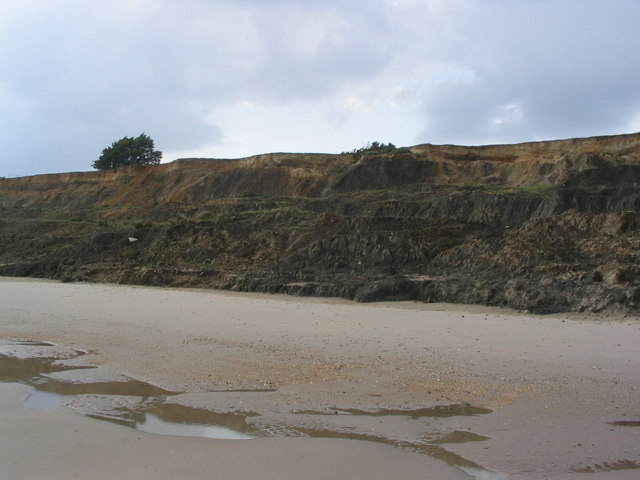 Cliffs west of Barton-on-Sea
