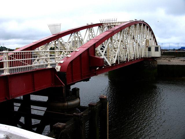 Ramsey Harbour, swing bridge