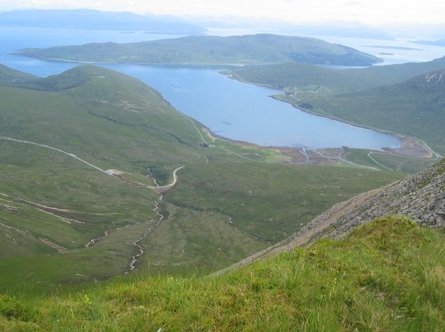 View east from Beinn Dearg Mheadhonach