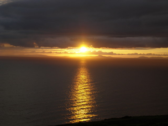 Sunset from Llangelynnin layby.