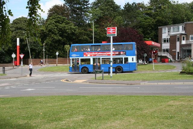 Bus at Tattenham Corner station