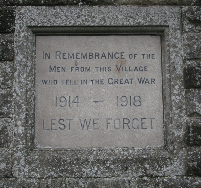 Romanby War Memorial Plaque (North Face)