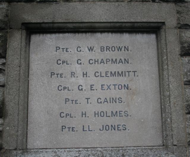Romanby War Memorial Plaque (West Face)