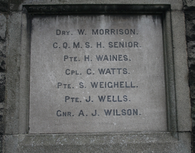 Romanby War Memorial Plaque (East Face)