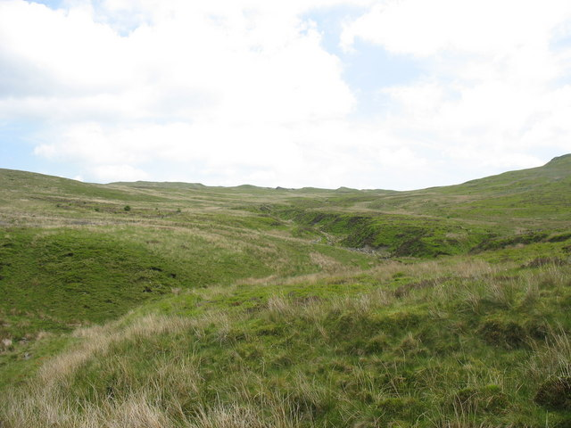 The valley of a tributary of Nant Hir